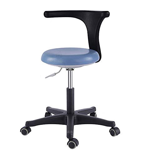 (SoHome Dental Medical Assistant Chair Nurse Stool with 360 Degree Rotation Armrest PU Leather)