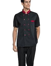XinAndy Men's Summer Chef Coats Back sweat mesh