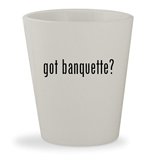 got banquette? - White Ceramic 1.5oz Shot Glass (Corner Bench Banquette)
