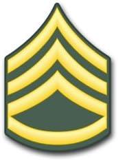 U.S.Army Staff Sergeant Rank Insignia Decal Sticker