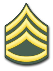 US Army E-6 Staff Sergeant Rank Insignia vinyl transfer decal sticker 3.8