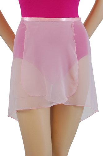 """Trienawear 14"""" tapered to 20"""" Adult Chiffon Wrap Skirt TR200 Ballet Dance Dancewear Assorted Colors P/S, M/L"""