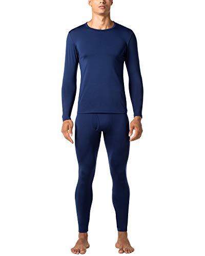 LAPASA Men's Thermal Underwear Long John Set Fleece Lined Base Layer Top and Bottom M11 (Medium, Midweight ()