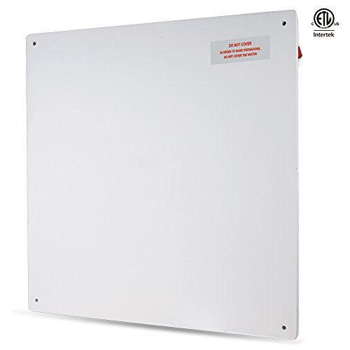 VIVOHOME Paintable Electric Wall Mounted Panel Convection Heater 110V 425W 23.5 x 23.5 Inch ETL Safety Standard Certified