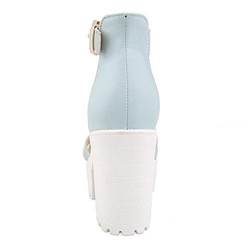 36 Ouvert Bleu 5 Bout SLC04179 AdeeSu Bleu Femme pwCZcx