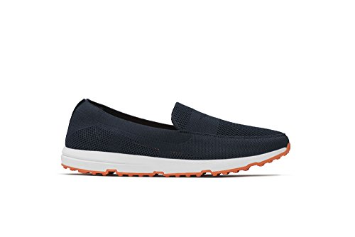 SWIMS Mens Breeze Leap Knit Loafers For Pool, Beach, and All-Around Comfort - Swimsify Your Summer Navy/Orange