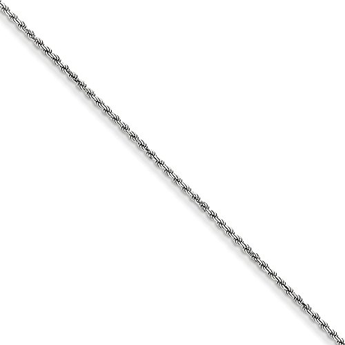 Machine Made Rope Chain (14k White Gold 1.60mm Diamond-Cut Machine-Made Rope Chain)