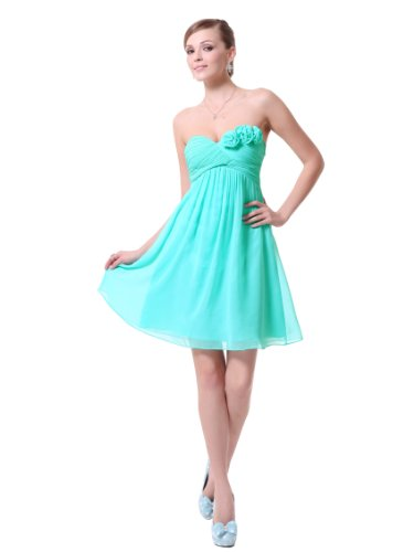 Ever Pretty Strapless Flower Ruffles Padded Elegant Chiffon Bridesmaid Dress 03543