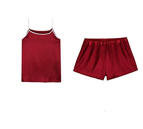 Hogar Traje Pijamas Siete Conjunto Simulación Eslinga Servicio Baujuxing Hielo Pantalones Seda Femenino Verano Piezas Xl Sexy De Dormir L Informal Para Seda Tqdw7zPq