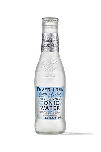 Fever-Tree Refreshingly Light Tonic Water, 6.8 Fl Oz Glass Bottle (24 Count)