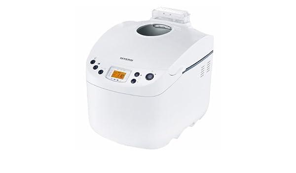 Severin BM 3991 - Panificadora (3.3 l. de capacidad para 500-1000 g de pan), color blanco: Amazon.es: Hogar