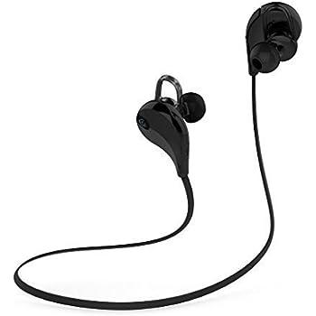 Geega Bluetooth Mini Lightweight Sports Earbuds, Wireless Stereo Headphones, Bluetooth 4.1 Neckband Earphone, Running Gym Exercise High-fidelity Sound Headset with Aptx Mic (Black)