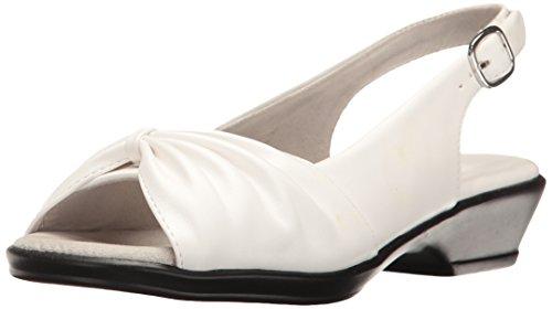 Het Fantasia Hakken Sandaal Wit Van Easy Street Womens