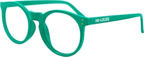 (HI-LITES Special Effect Glasses-HEART Effect Lenses (Teal) - Designer Style)