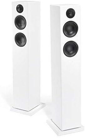 Audio Pro Addon T20 Altavoces Activos de pie con Bluetooth (1 par con Mando a Distancia de Aluminio, 2 x 60 W) Color Blanco