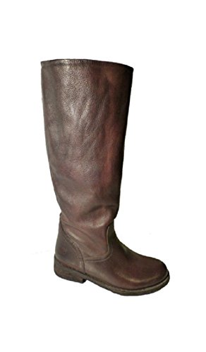 Cowboy Boots Leather Felmini Biker Moro T Lavado Brown tBqBa1wfn