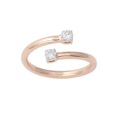Flexible Diamond Band 2 Stone (rose-gold, 7) (Flexible Diamond Band)