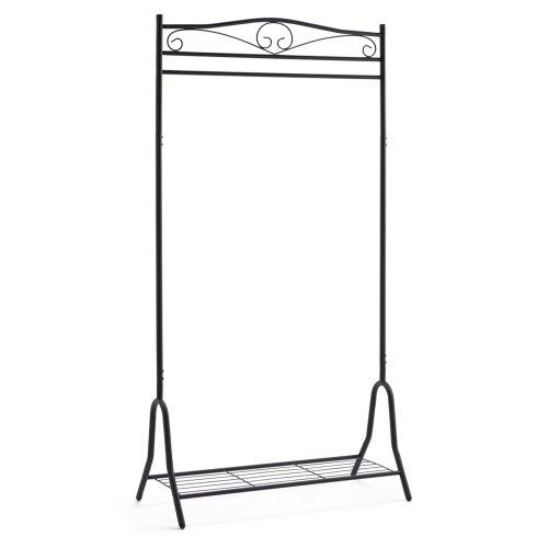 Garderobe Metall schwarz Kleiderständer mit Schuhablage Breezy ca. 90 x 46 x 172 cm