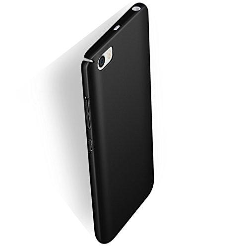 Funda Xiaomi Mi5 M5 Mi 5, Caso con [Protector de Pantalla de Cristal Templado] [Ultra-Delgado] [Ligera] Anti-Rasguño y Anti-Huellas Dactilares Totalmente Protectora Estuche de Plástico Duro -Rojo Negro