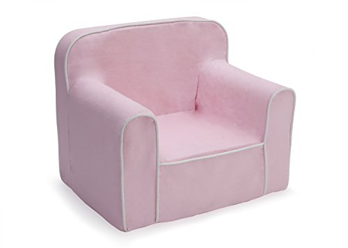 (Delta Children Foam Snuggle Chair, Pink with White)