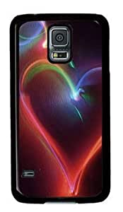 Galaxy S5 Case,Abstract Neon Heart Case for Samsung Galaxy S5 PC Material Black-comfort Samsung Galaxy