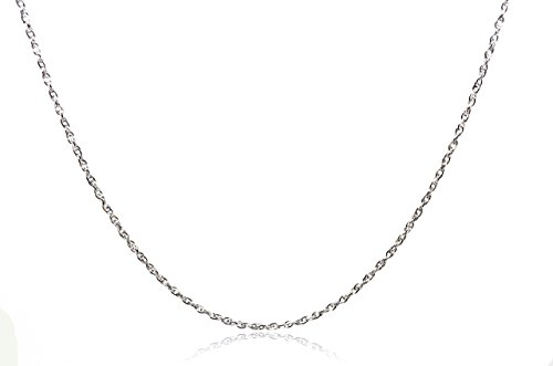 Chelsea Jewelry Basic Collections Italian Designed 2.6mm Wide 18K White Gold Singapore Chain Necklace. (20 Inches, white-gold)