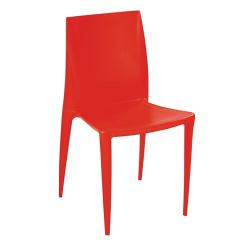 Modern Contemporary Dining Chair, Orange, Plastic by America Luxury - Chairs