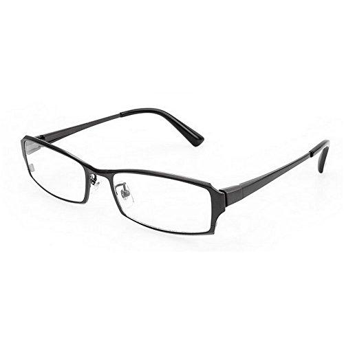 (MINCL/Pure Titanium Full Frame Business Glasses Frame Eyeglasses Clear Lens (gun, plain))