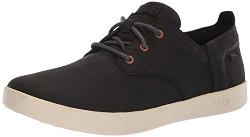Chaco Men's Davis Leather Lace Up Sneaker, Black, 8.5 M -