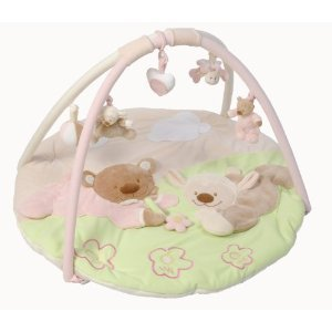 Nattou Noa Gilles Baby Girl Pink Bear Playmat Activity Gym Arch Amazon Co Uk Baby