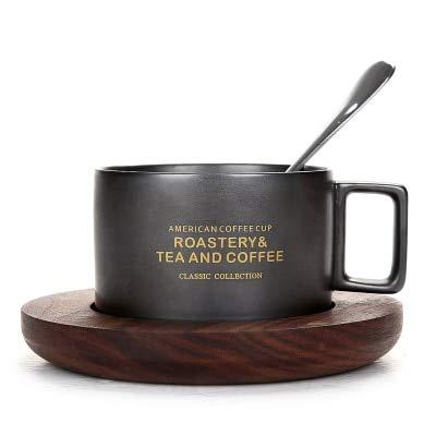 Acquisto KBWL 300mL Tazza da tè da caffè Espresso Stile Italiano Italiano Tazza da caffè Classica da Latte con Set da Cucchiaio piattino Caffettiera da caffè in Porcellana Stile Cafe 12 Prezzi offerta