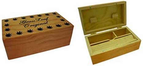 Caja de madera enrollable pequeña/mediana/grande, hoja de césped para fumar, bandeja para liar cigarrillos, Medium