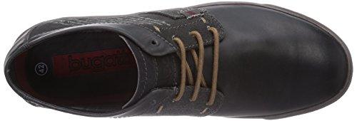 bugatti F5032PR16 - zapatilla deportiva de cuero hombre negro - negro