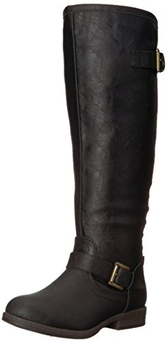 Brinley Co Women's Durango Riding Boot, Black, 6.5 M US (Boots Riding Brinley Studded)