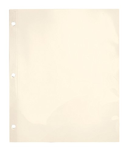 Fox Valley Traders 3-Ring Sheet Protectors Ivory