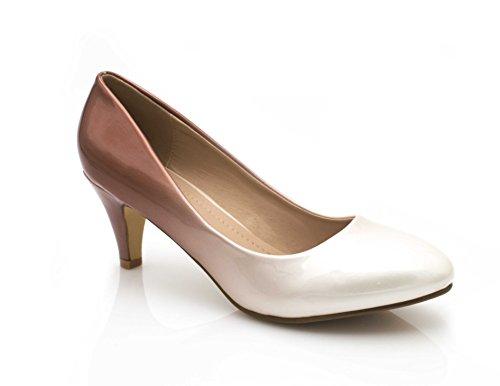 Tacco Scarpe Marrone Shoes col Fashion Beige Donna Rtx6qxwP