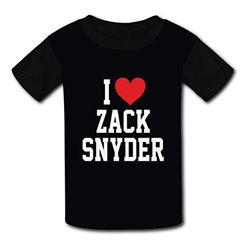 Youth/Kids T-Shirt I Love Zack Snyder 3D Print Short Sleeve Top Tees Black