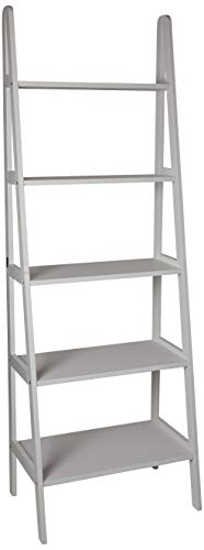 Transport 5 Shelf - Casual Home 176-51 5-Shelf Ladder Bookcase, White