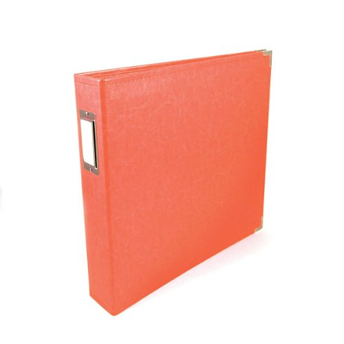 We R Memory Keepers Coral Classic Leather 12x12 Ring Album