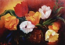 Bob Ross How-to Painting Packet Basket of Tulips
