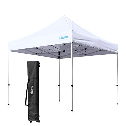 Ohuhu EZ Pop-Up Canopy Tent, 2019 Upgraded 10 X 10 FT Commercial Instant Shelter With 4 Adjustab ...