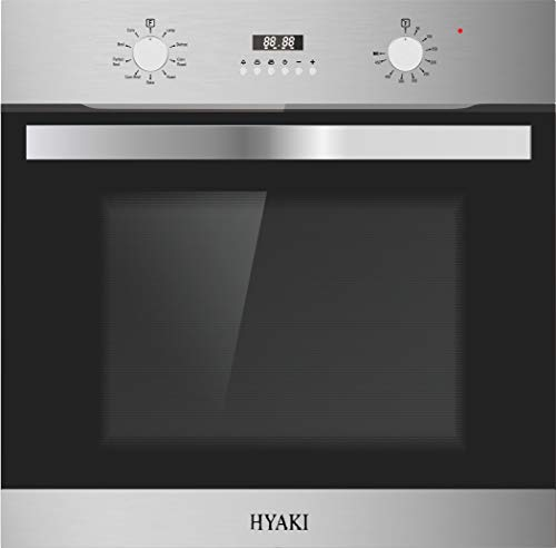 "24"" Hyaki HYK-24WOX15-01 Stainless Steel Built in Electric Single Wall Oven Designed for Modern Kitchen"