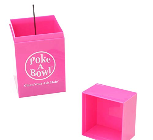 Poke A Bowl Ashtray - Clean Your Ash Hole (Pink)