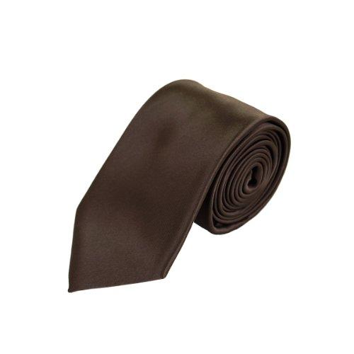 Brown Silk Tie - Premium Classic Solid Color 2.75