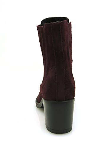 Ladies' Shoes bordeaux k418 Boots Shoes Leather Kell Ankle Suede cFzAqPx4w