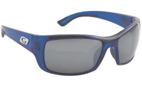 Guideline Eyegear Keel Sunglass, Blue Crystal Frame, Deepwater Gray Polarized Lens, - Polarized Guideline Sunglasses