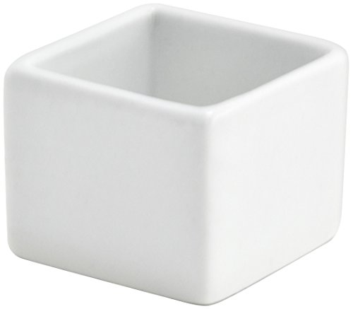 Front of the House DSD034WHP24 Canvas Square Ramekin, 2