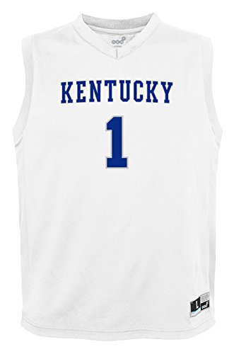 Kentucky Wildcats Basketball Jersey - NCAA by Outerstuff NCAA Kentucky Wildcats Youth boys Chase Basketball Jersey, White, Youth Medium(10-12)