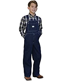 9c6bf9109e04 West End Blues Big Boys Kids Soft Washed Denim Bib Overall
