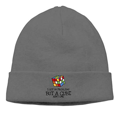 Rubik's Cube 99 Problems Beanie Cap Winter Warm Knit Skull Hat for Men Women Deep ()